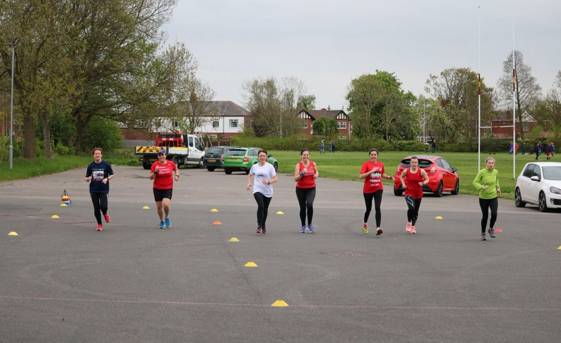 Widnes Wasps Ladies RC - Training with a Widnes running club