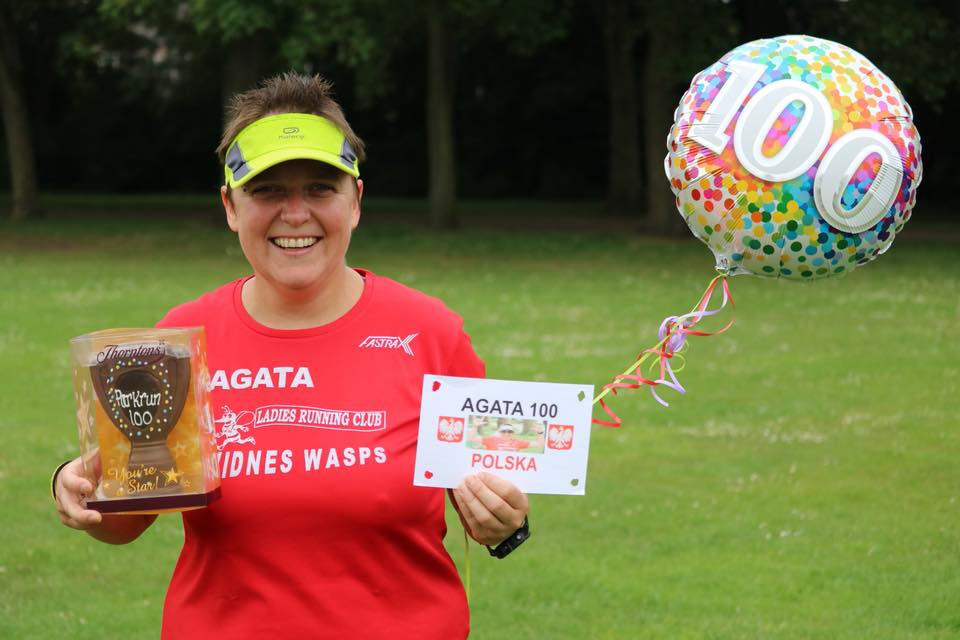 Widnes Wasps Ladies Running Club - Agata - 100 parkruns