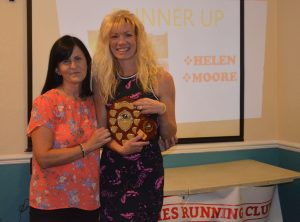 Widnes Wasps Ladies Running Club - 2017/18 Awards Evening - Runner Up Helen Moore