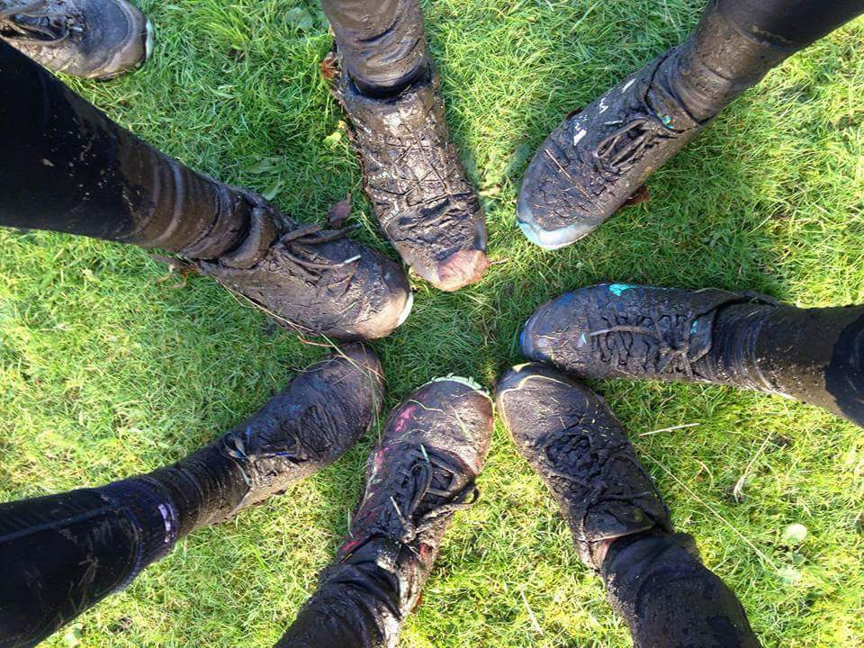 Widnes Wasps Ladies Running Club - North West Cross Country League - Muddy trainers