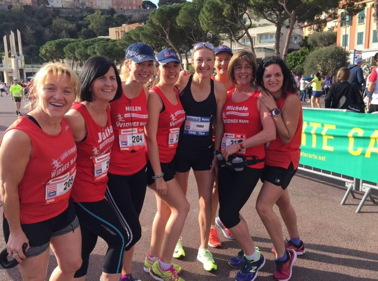 Widnes Wasps Ladies Running Club meet Paula Radcliffe | Monaco 10K
